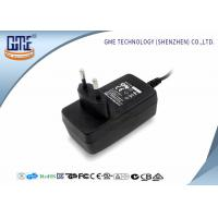 1.25A Audio Switching Power Adapter EU Plug Black 90V - 264V AC With Low Ripple Manufactures