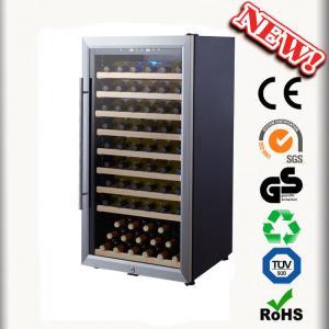 80 Bottles Refrigerated Bar Wine Cooler No Vibration Wine Cabinets Manufactures
