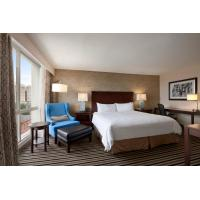 Quality Hotel Room Furniture Cherry Wood King size Bed and Desk set in Modern American for sale