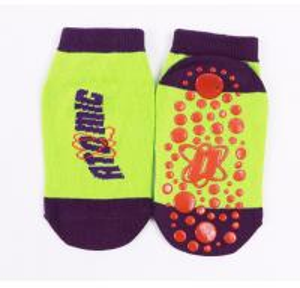 Fancy Reflective Trampoline Jump Socks , Indoor Playground Kids Gravity Safety Socks Manufactures