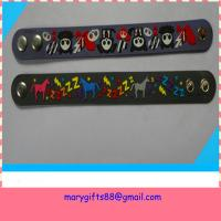 customize soft pvc wristband strap Manufactures