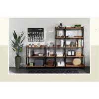 Metal And Dark Wood Display Shelves, Wooden Rack Display Different Sizes Manufactures