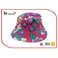 Tropical Printed Bucket Hat 52cm head circumference with yellow cotton lining Manufactures