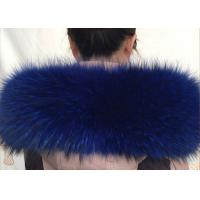 100 *20cm Raccoon Navy Fur Collar , Extra Long Pile Furry Necks Collars  Manufactures