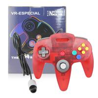 Classic Wired N64 Game Controller Gamepad Joystick Crystal Red Color Plastic Material Manufactures