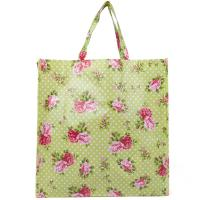 Handled Reusable Woven Shopping Bags / Heat Transfer Woven Cotton Tote Bag Manufactures