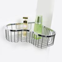 Bathroom Accessory Corner Basket Shelf Stainless Steel Easy Installation
