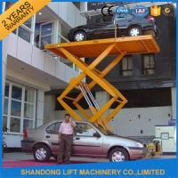 Car / Vehicle / Truck Heavy Duty Hydraulic Scissor Car Lift Systems Explosion Proof Manufactures