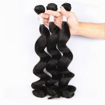 Unprocessed Virgin Human Hair Bundles Loose Deep Wave Human Hair Weave For Black Woman Manufactures