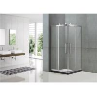 304 Stainless Steel Corner Enter Shower Boxes Sliding Mirror Finished Tempered Glass Manufactures
