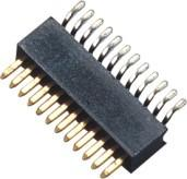 Buy cheap 90° SMT 1 Mm Pitch Pin Header Connector / Single Row Pin Header from wholesalers