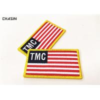 Custom USA Flag Military Style Patches Hook On Uniform Arm Manufactures
