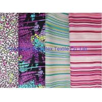 China Weft Cotton Poplin Elastic Stretch Fabric  Reactive Print  for Shirt and Dresses on sale