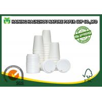 White Double Walled Disposable Coffee Cups , Takeaway Paper Coffee Cups With Lids Manufactures