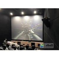 Unique Electric Motion 4D Cinema Seats With Curve And Ring Screen / 4D Movie Ride Manufactures