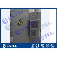 Anti Corrosion Powder Coated Thermostatic IP65 Outdoor Telecom Cabinet With Front Rear Access Manufactures