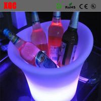 Personalized Led Ice Bucket Party Cooler , Colour Changing Wine Cooler Manufactures