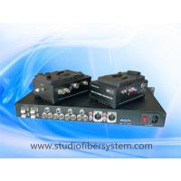 V-Lock fiber adaptor with remote,tally,return SDI,genlock,intercom for 4 camera OB Truck system Manufactures