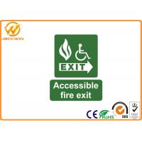 Plastic Accessible Fire Exit Emergency Traffic Warning Signs , Photoluminescent Safety Signs Manufactures