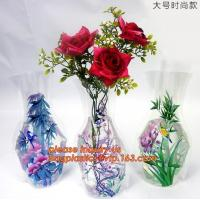 China artificial foldable pvc decorative wedding plastic vase,pp plastic flower sleeve bag,pp transparent flower single rose s on sale