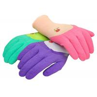 Custom Latex Coated Work Gloves , Ladies Gardening Gloves With Micro Foam Manufactures