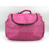 Pink Satin Quilted Tote Diaper Bags With Strap Easy Carry Big Capacity Manufactures