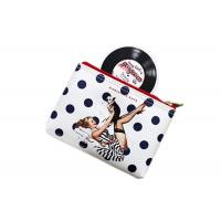 Cartoon Travel Toiletry Bag / PU Leather Ladies Clutch Bag Silk Printed Manufactures