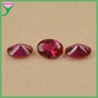 Wholesale high quality price carat red corundum oval diamond cut synthetic ruby gemstone Manufactures