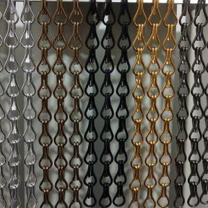 Anodized metal decorative Aluminum chain link fly screen curtain Metal Chain Link Fly Screen Mesh Door Curtain Manufactures