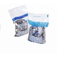 China Clear Plastic Bank Deposit Bags , Colorful Printing Tamper Evident Cash Bags on sale