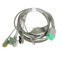 China GE-Marqutte ECG Patient Cable 5 Lead Wires Set , IEC / CE Mark on sale