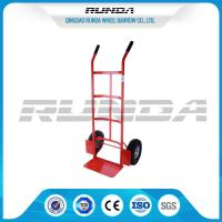 Double Pneumatic Wheel Heavy Duty Hand Cart 130kg Max Payload Pneumatic Tyres Manufactures