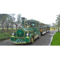European Mini 3 Carriages 60 Passengers Electric Trackless Train with Lead-acid Battery Manufactures