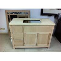 China Home Bathroom Vanity Cabinet Mahogany Material With Three Drawers on sale