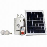 Portable Solar Music Kit with 2-piece LED Lamp, FM Radio/MP3 Player and Bluetooth Function Manufactures