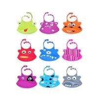 China waterproof silicone baby bibs with snaps adjustable ,silicone kid bib on sale