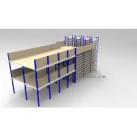 Ground + Two Flooring 246FT/7.5M Height Shelving With Mezzanine Floors System Manufactures
