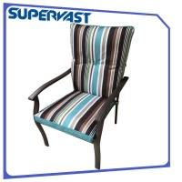 Striking Strap Cushion Steel Frame Outdoor Patio Chairs Garden Patio Dining Chair Manufactures