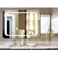 China Wall Mounted Defogging LED Bathroom Mirrors 3-6mm Thickness With Touch Button on sale