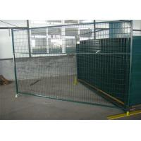 "6'X9.6' temporary construction fence frame 1.6""/40mm brace1.2""/30mm and 16ga  akzolnobel powder coated ral 6004 Manufactures"