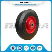 Farm Wagon Solid Rubber Wheels , Metal Rim Solid Rubber Tires For Wheelbarrows Manufactures