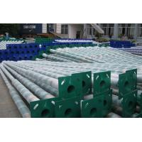 Outdoor Parking Concrete Light Pole , Yard / Residential Light Poles Conical Round Manufactures