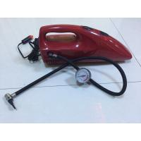 2 In 1 DC 12V Red And Yellow Fancy Portable Car Vacuum Cleaner For Car With Inflation Fuction Manufactures