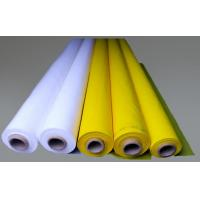 White 100% Monofilament Polyester Screen Printing Mesh For T-shirt Manufactures