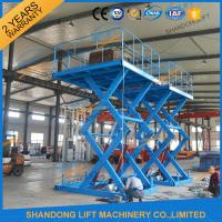 China 3T 5M Warehouse Cargo Lift Material Loading Hydraulic Scissor Lift Platform on sale