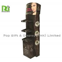 New 3 layers customized eyebrow cardboard floor display stands Manufactures