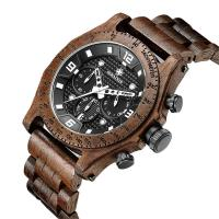 China Wood Belt Multifunction Wrist ,wood watches for men ,3 ATM water proof . on sale