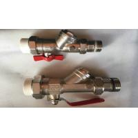 Manual Water Oil Gas Brass Full Port Ball Valve / Handle Ball Valve Manufactures