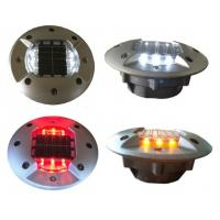 Multi color aluminum solar road stud with super bright led light for roadway safety Manufactures