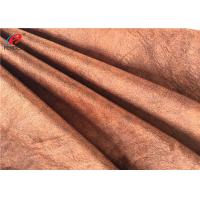 Polyester Fleece Printed Brushed Velvet Material For Upholstery , 180cm Width Manufactures